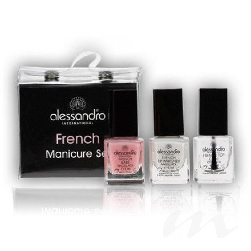alessandro french manicure 3er set mini 12 95 m beauty24 gm. Black Bedroom Furniture Sets. Home Design Ideas