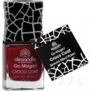 alessandro Go Magic! CROCO COAT - BORDEAUX Nagellack (No...