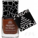 alessandro Go Magic! CROCO COAT - BRAUN Nagellack (No...
